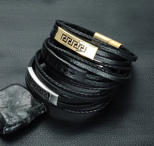 Multilayer Genuine Leather Rope Bracelet