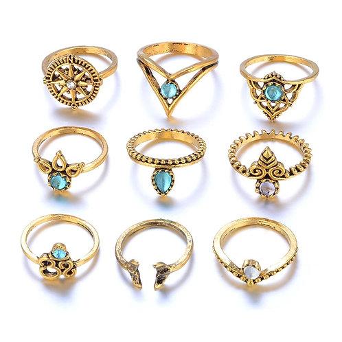 Bohemian Knuckle Rings (9 pcs)