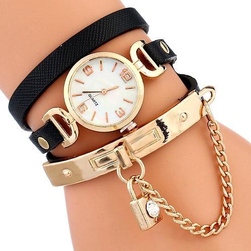 Lock Charm Wrap Watch/Bracelet