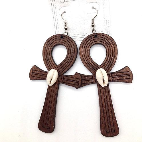 Symbol of Life wood Earrings