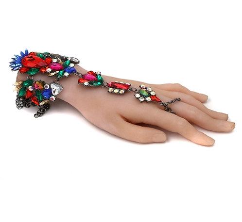 Boho Crystal Hand Chain