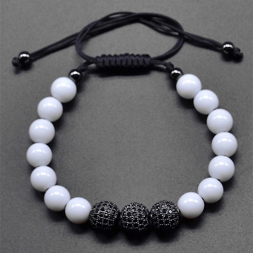 Natural White Macrame bracelet