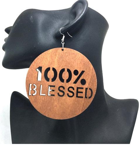 100% Blessed Wood Earrings