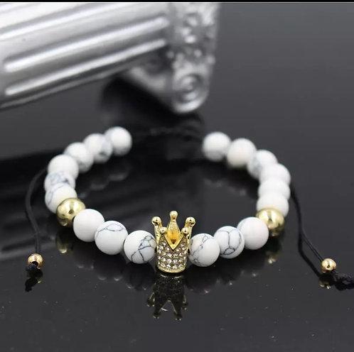 Crown Macrame bracelet (Marble)