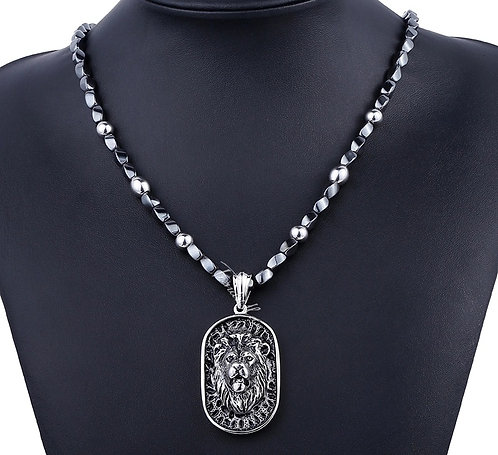 Stainless Steel Lion Pendant Link Chain