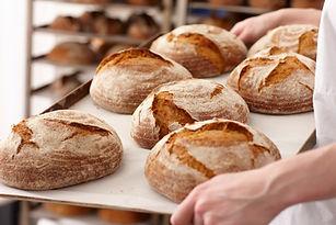 Rouleaux de pain frais