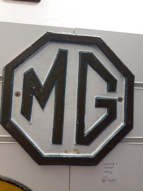 MG Sign Brown/White