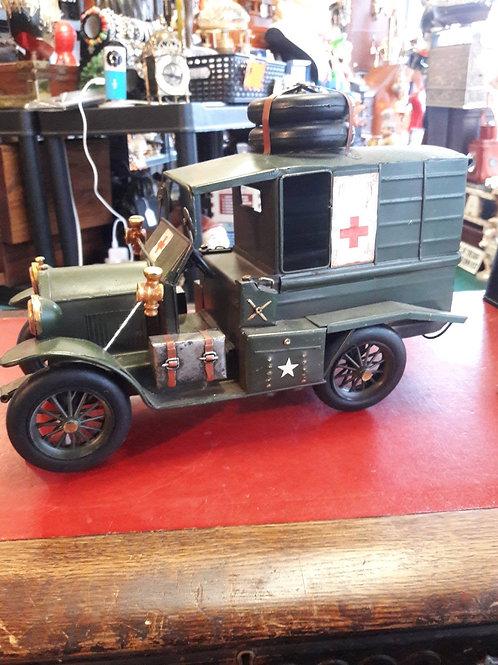 Vintage model army ambulance.