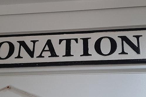 Coronation street cast iron sign