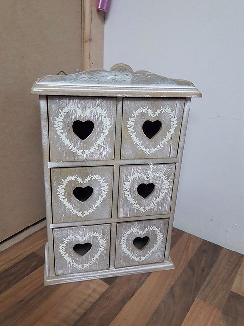 Wooden 6 Drawer Craft/Trinket Box