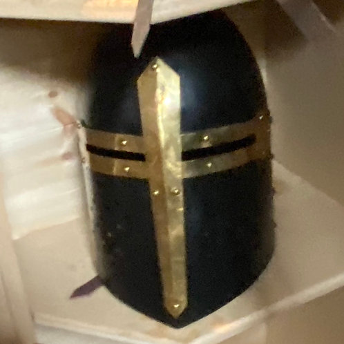 Medieval Crusader Helmet Templar,Knight Helmet+Black Finish