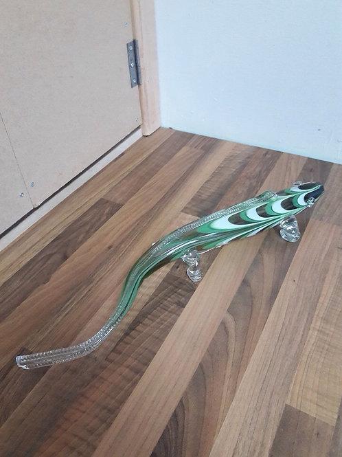 Retro Green Glass Iguana