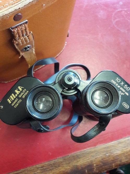 Hilka  10x50 binoculars and case