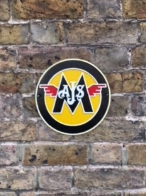 YMCAM AJS/MATCHLESS WALL PLAQUE