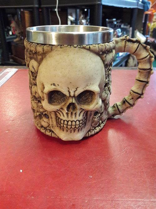 Skull mug/tankard.