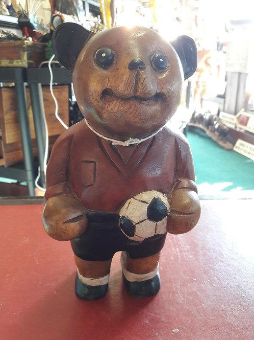 Vintage style wooden bear.