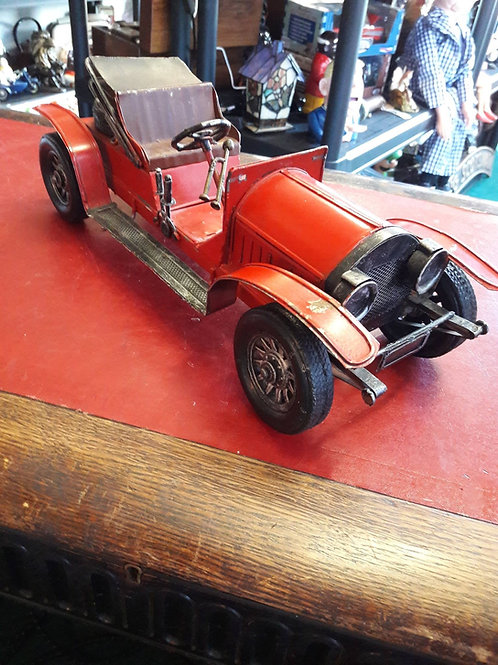 Red metal classic car
