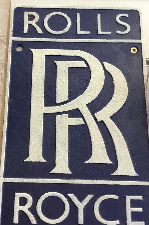 ROLLS ROYCE WALL PLAQUE