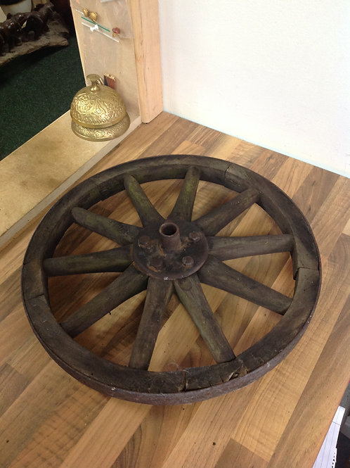Vintage Wooden/Iron Cart Wheel