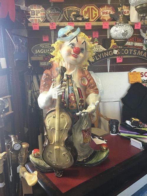 Large ceramic clown