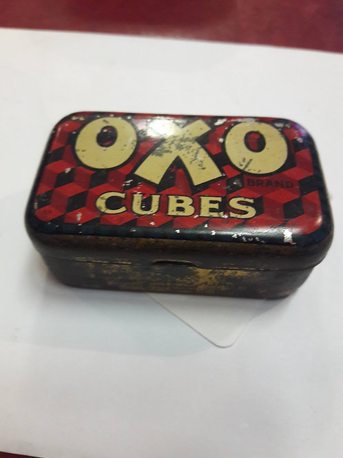 Vintage metal oxo tin