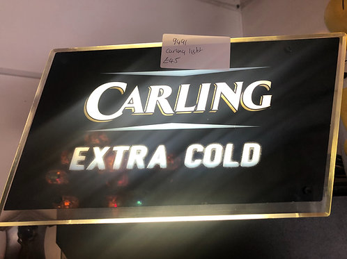 Light up carling sign