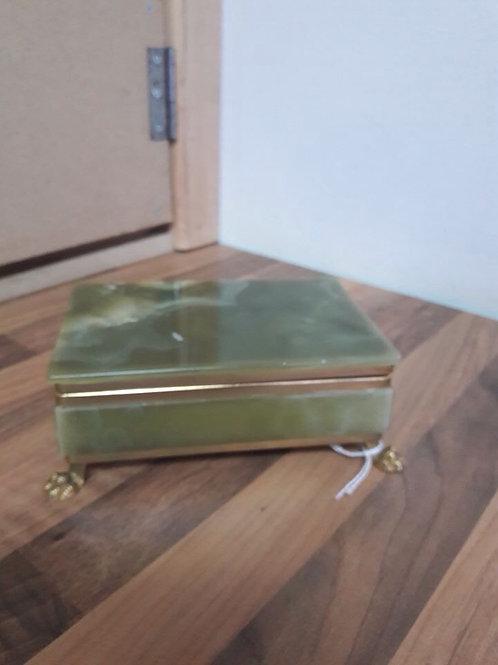 Green Onyx Trinket Box
