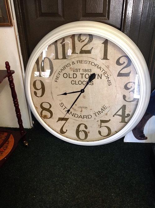 Giant White Wall Clock