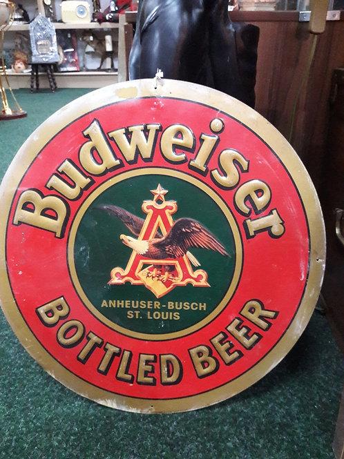1995 Laquered Tin Budweiser Sign