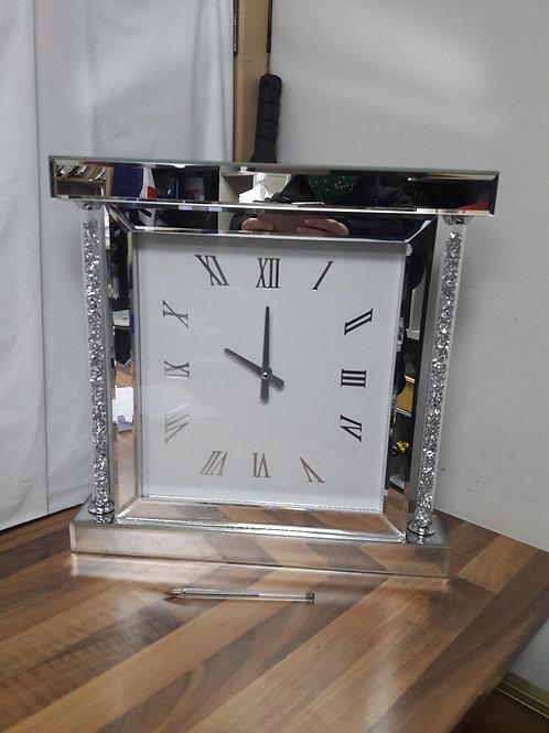 Crushed diamond mantel clock
