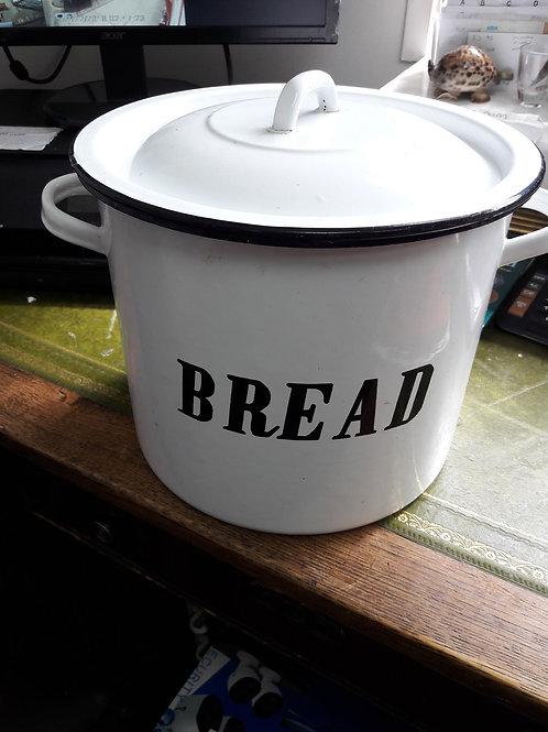 Enamel bread bin