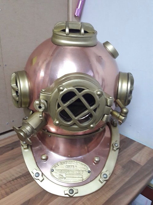Copper/Brass Tone Deep Sea Diving Helmet