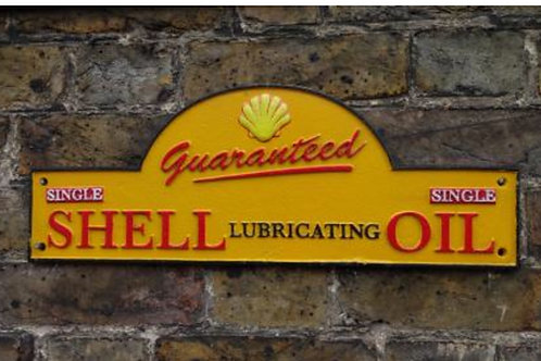 Cast iron shell sign