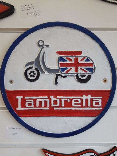 Round Lambretta Sign