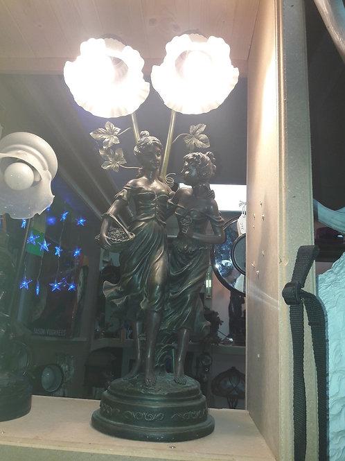 Art Deco ladies lamp
