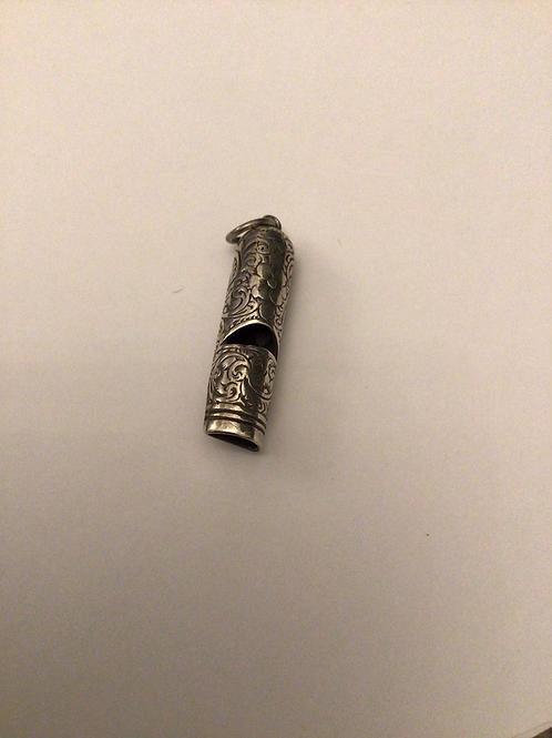 Fine silver whistle