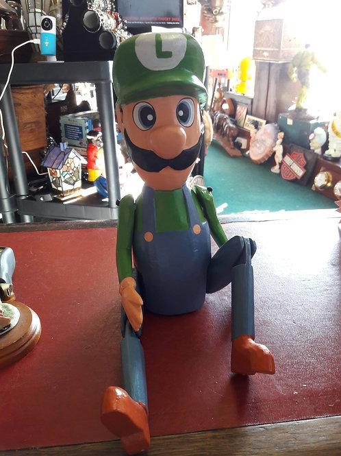 Large Wooden Luigi