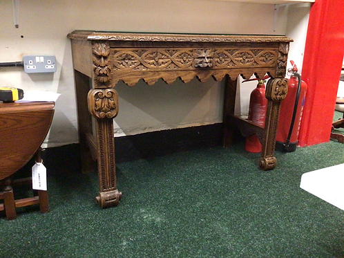 Vintage green man table , with glass top
