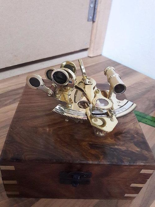 Brass Sextant Navigational Instrument