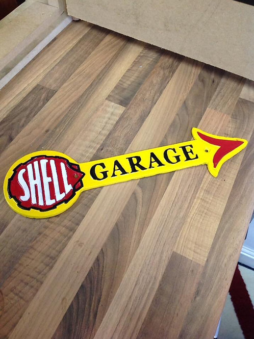 Shell arrow garage