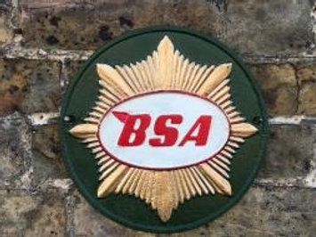 Cast iron green bsa sign
