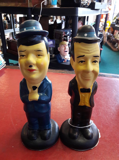 Laurel and Hardy ...Pottery pair