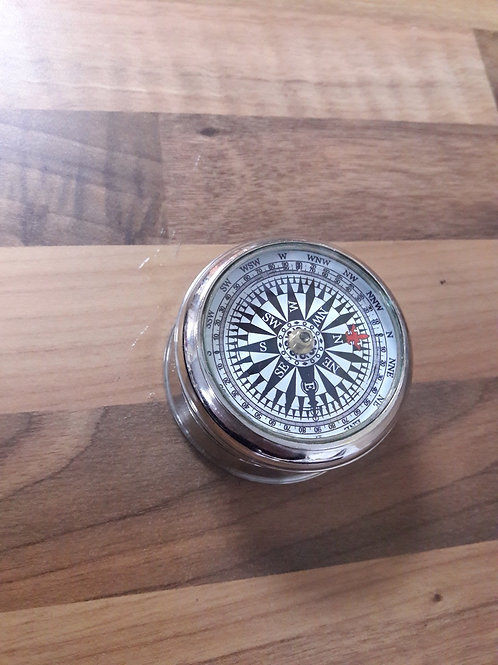 Silver Tone Compass