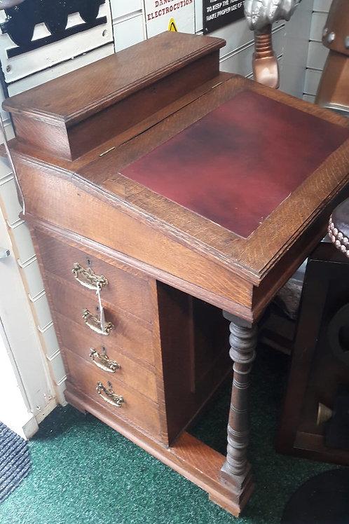 Red Davenport desk
