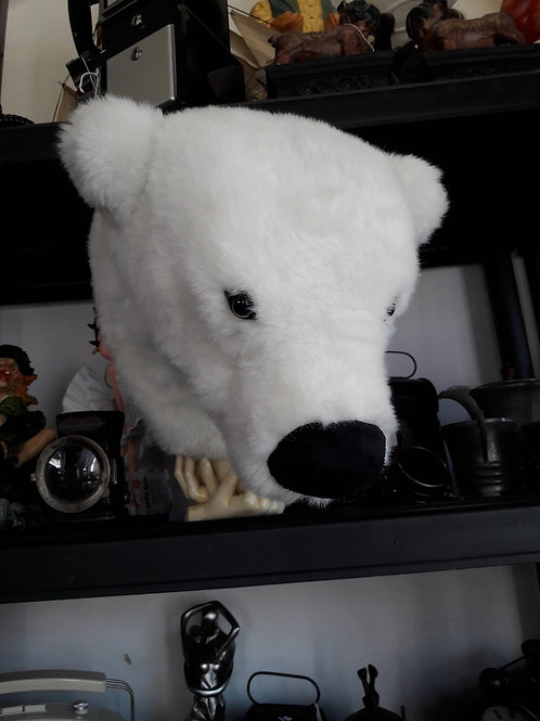 Fury Polar Bear Wall Mount