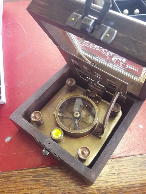 Compass/Sundial in box.