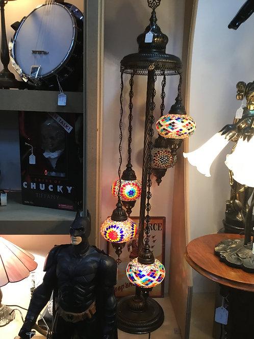 5  tier coloured Moroccan light