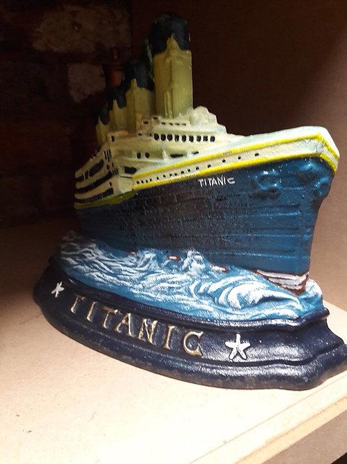 Cast Iron Titanic Doorstop