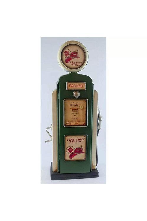 Vintage petrol gas pump storage box