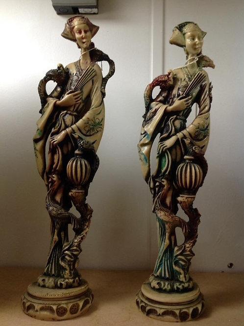 Large Oriental Resin Figures
